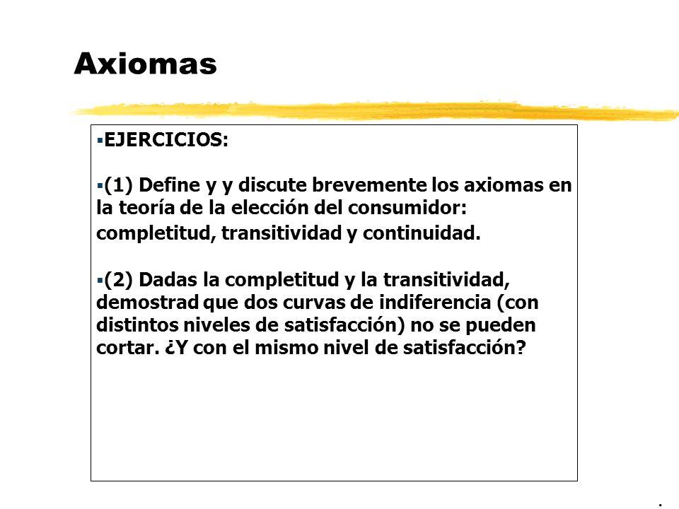 Axiomas EJERCICIOS:
