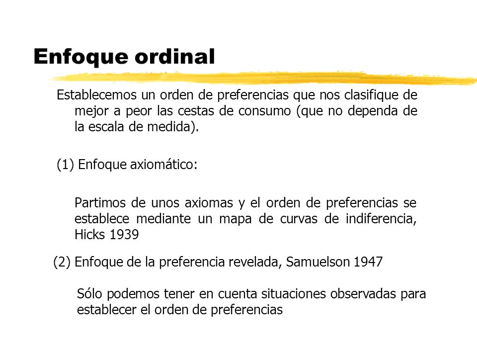 Enfoque ordinal