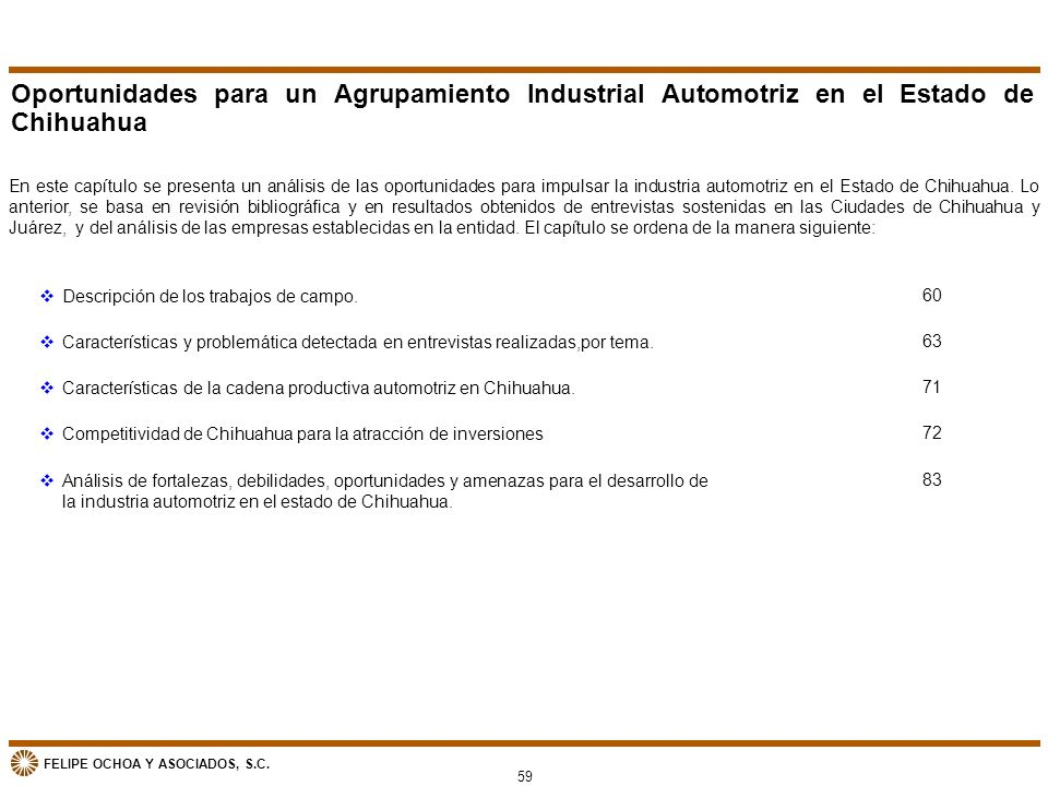 Oportunidades para un Agrupamiento Industrial Automotriz en el Estado de Chihuahua