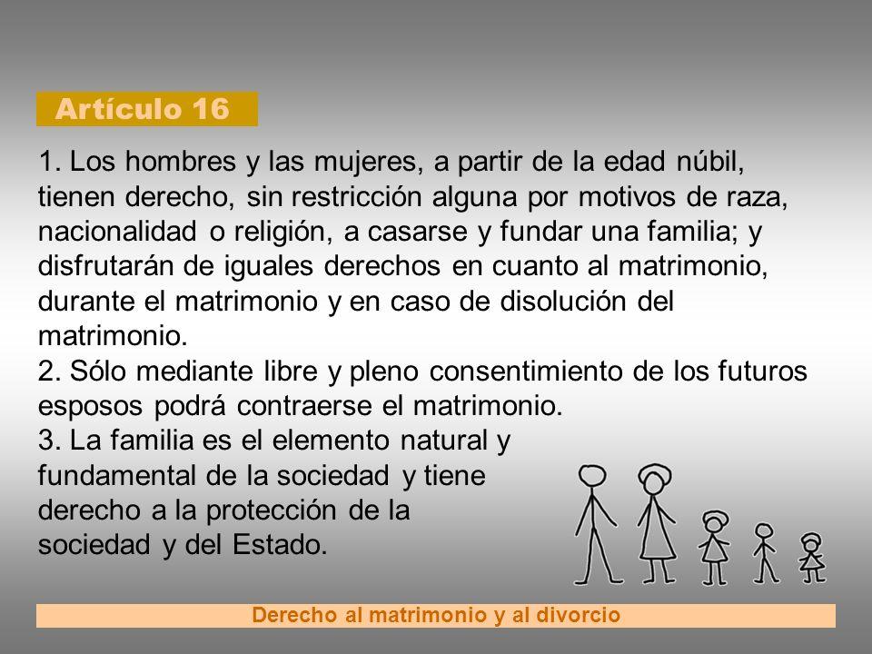 Derecho al matrimonio y al divorcio