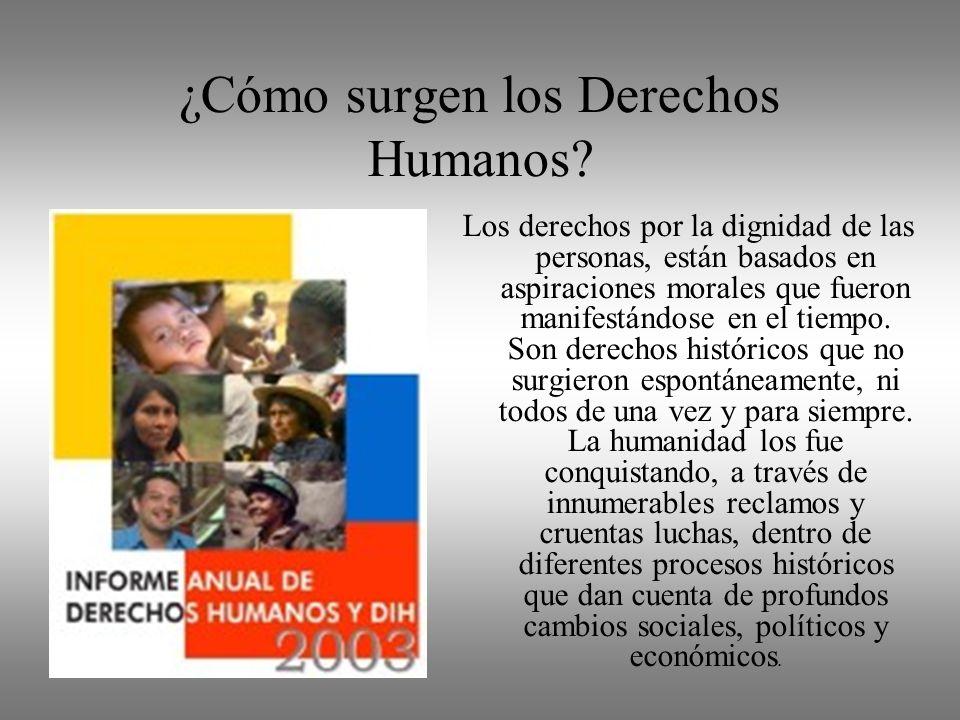 ¿Cómo surgen los Derechos Humanos