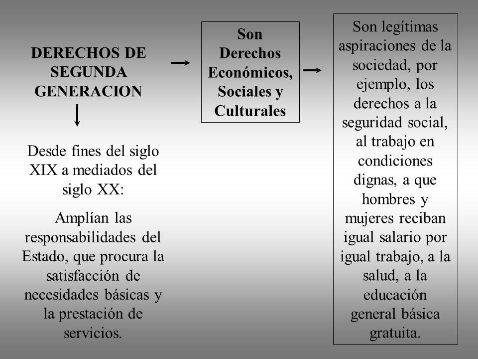 Son Derechos Económicos, Sociales y Culturales