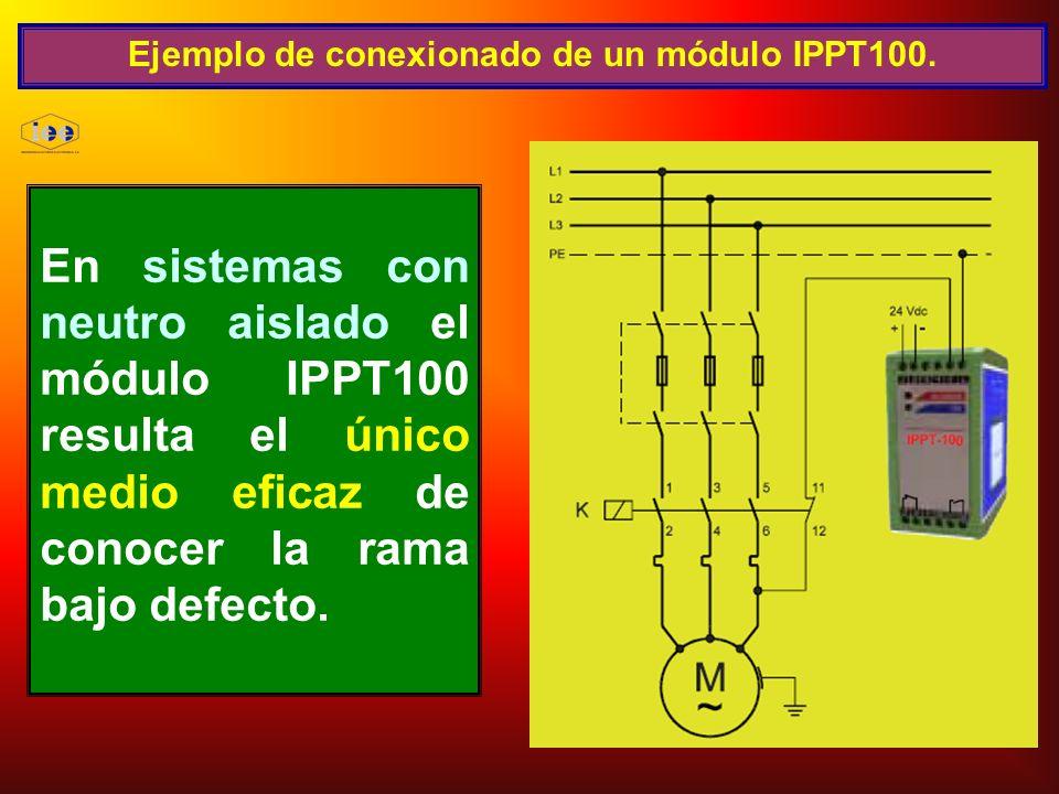 Ejemplo de conexionado de un módulo IPPT100.