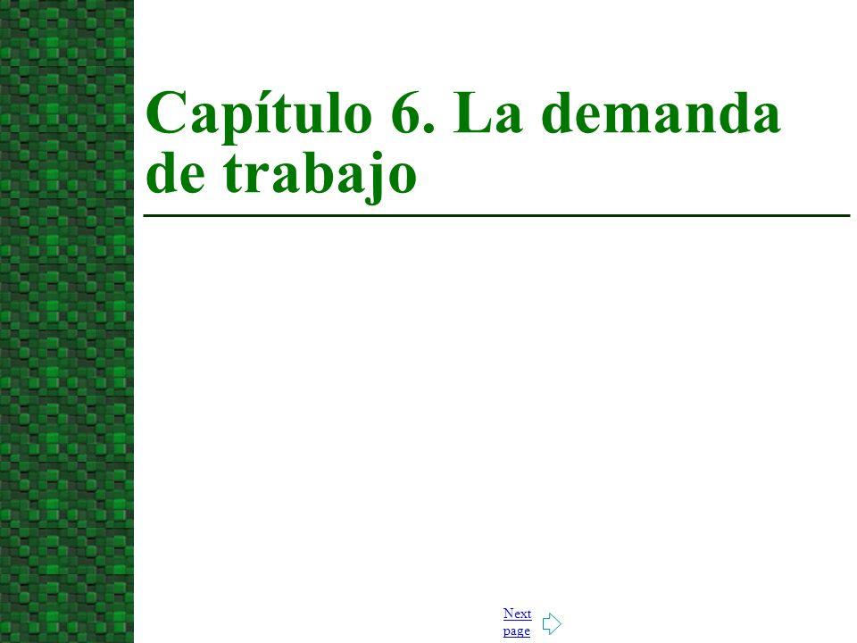 Capítulo 6. La demanda de trabajo