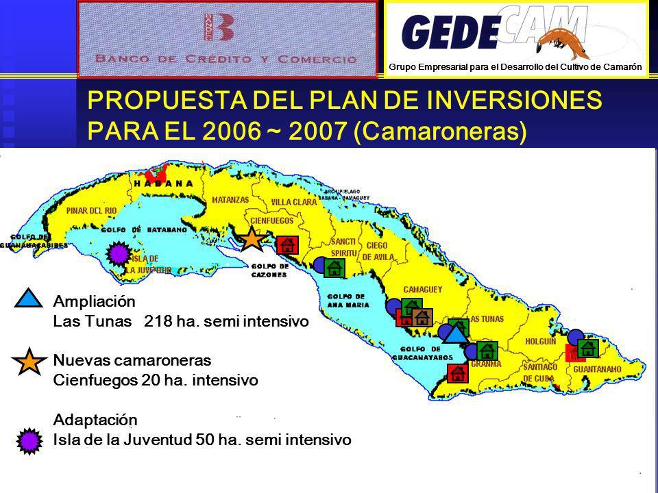 PROPUESTA DEL PLAN DE INVERSIONES PARA EL 2006 ~ 2007 (Camaroneras)