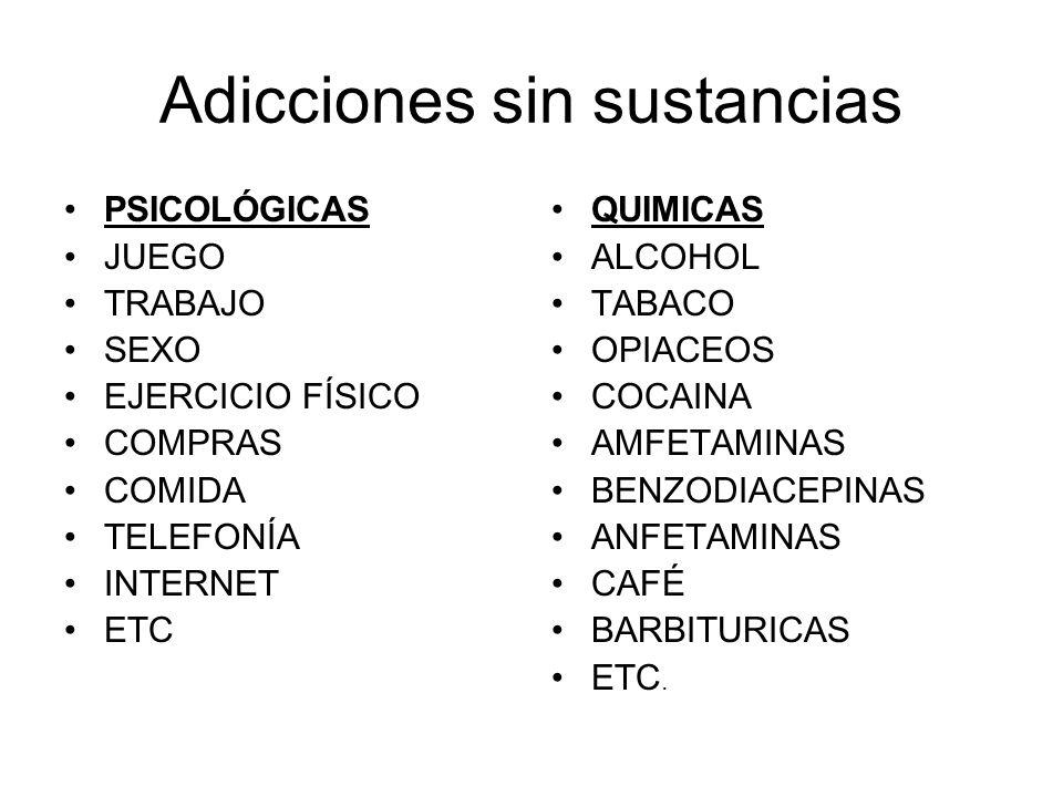 Adicciones sin sustancias
