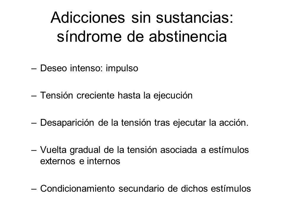 Adicciones sin sustancias: síndrome de abstinencia