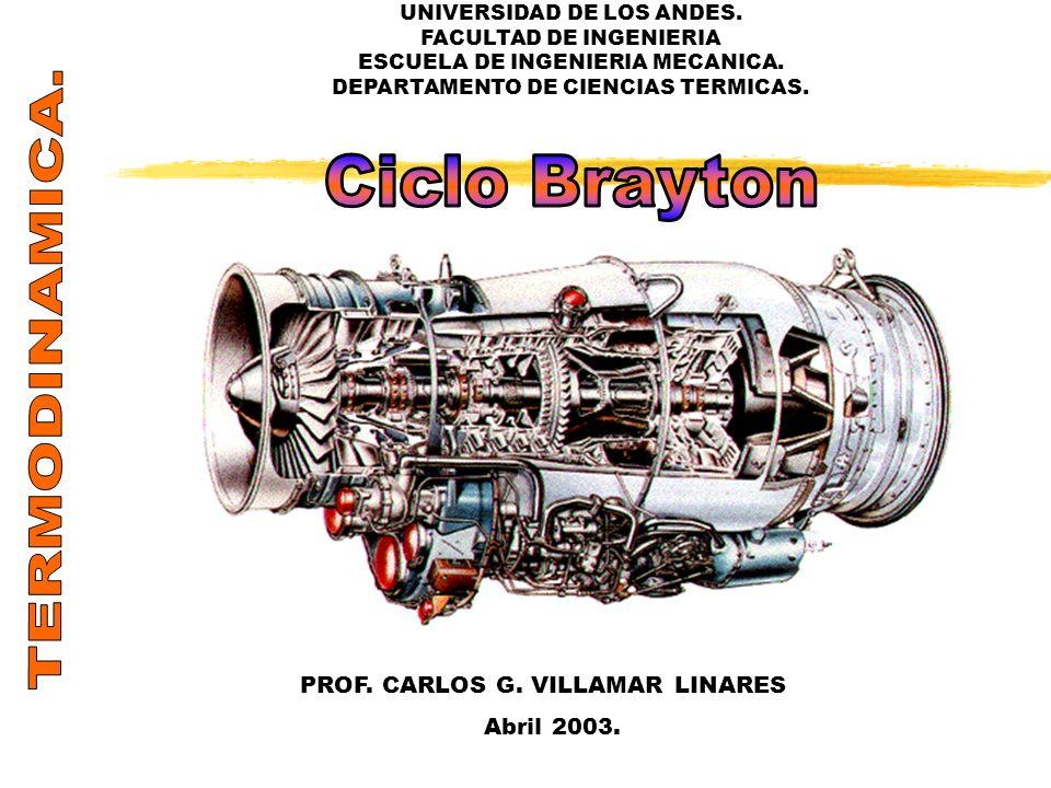 TERMODINAMICA. Ciclo Brayton PROF. CARLOS G. VILLAMAR LINARES