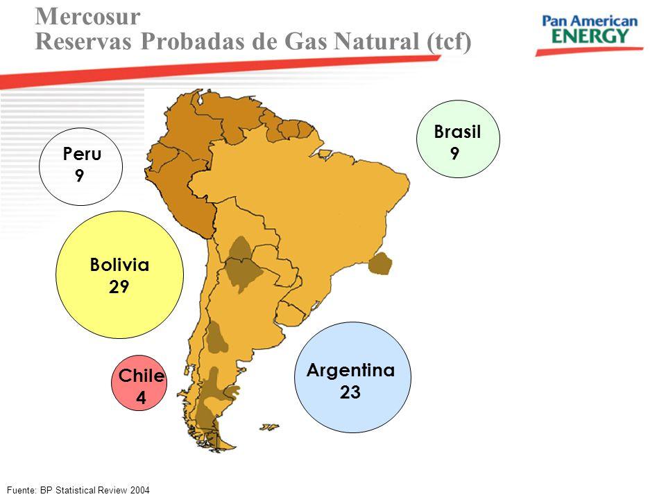 Mercosur Reservas Probadas de Gas Natural (tcf)
