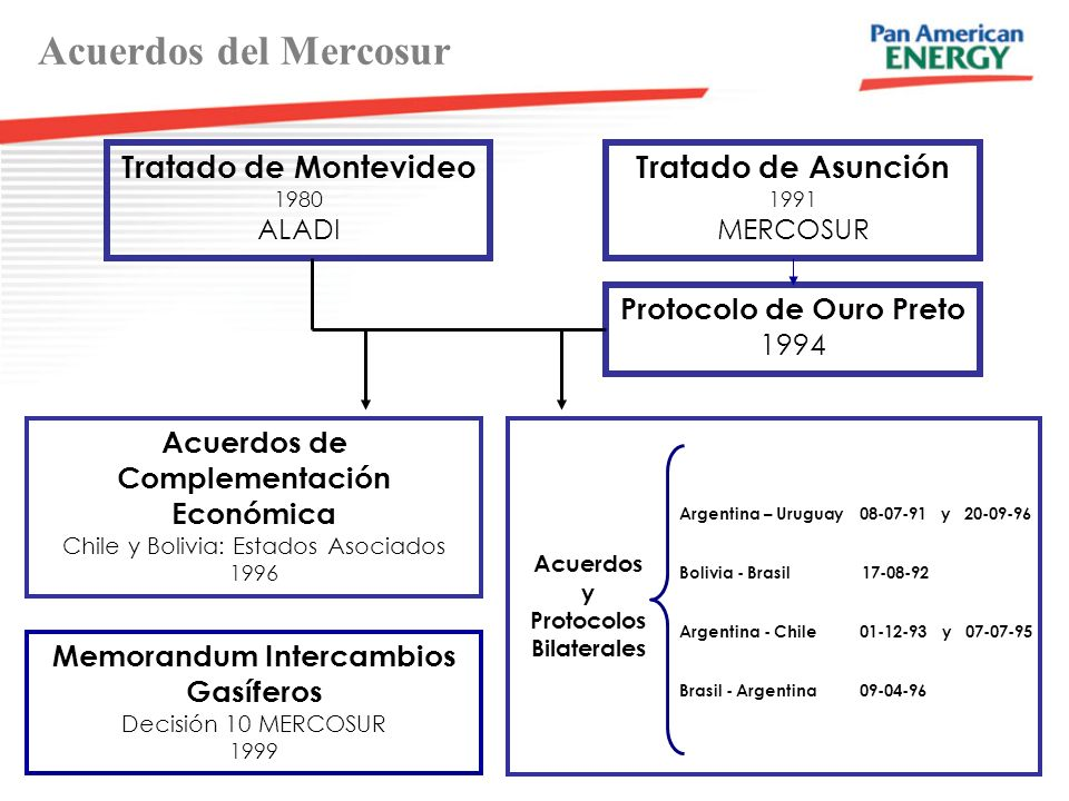 Acuerdos del Mercosur Tratado de Montevideo Tratado de Asunción