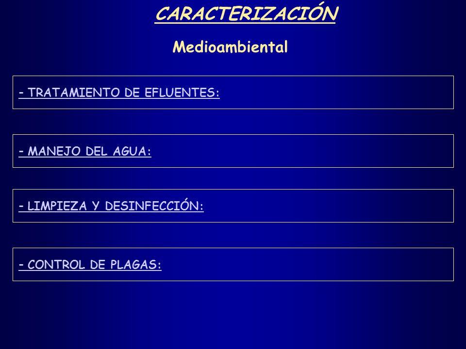 CARACTERIZACIÓN Medioambiental - TRATAMIENTO DE EFLUENTES: