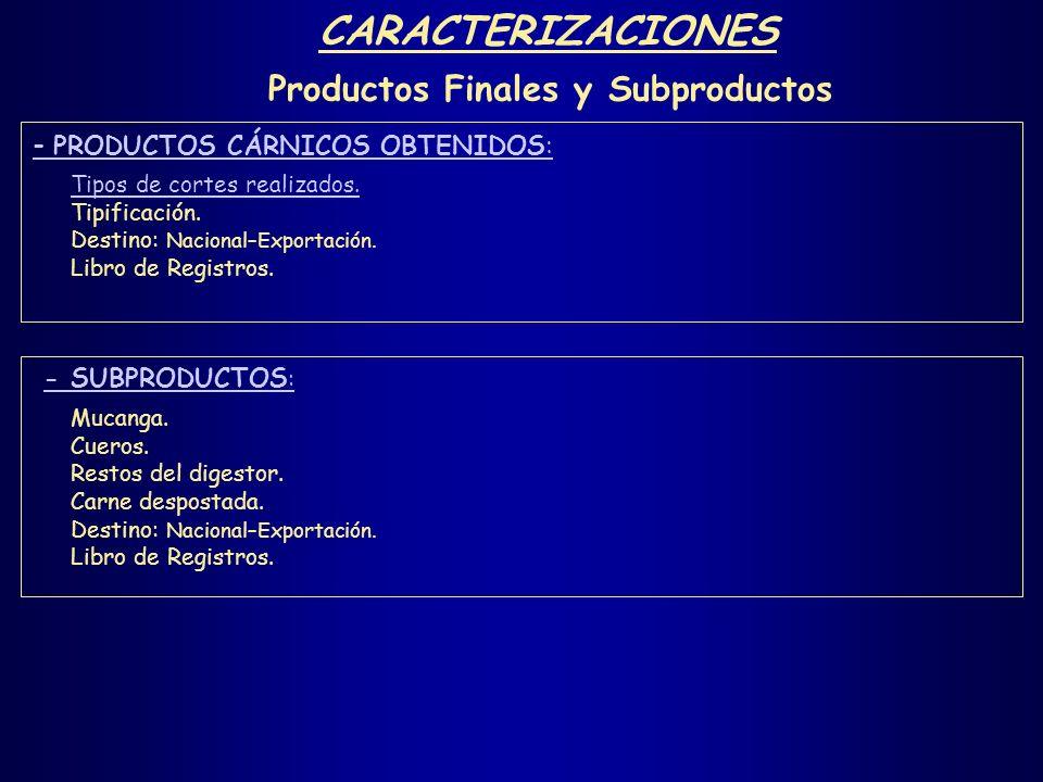 Productos Finales y Subproductos