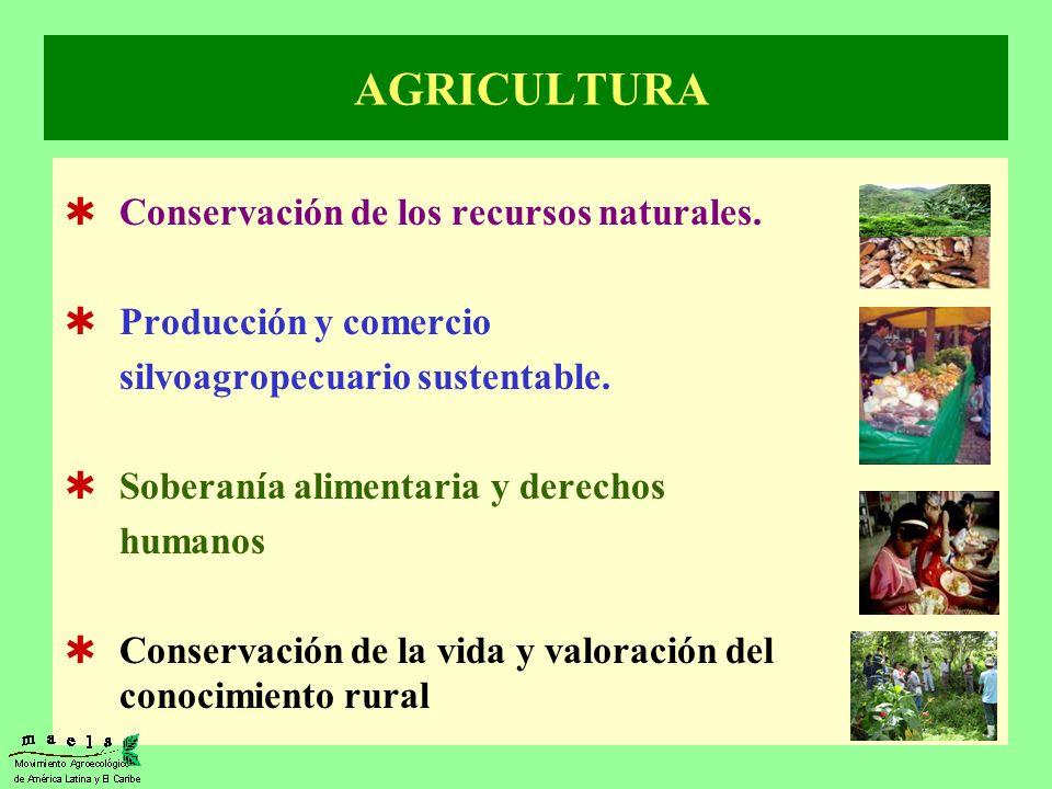 AGRICULTURA Conservación de los recursos naturales.