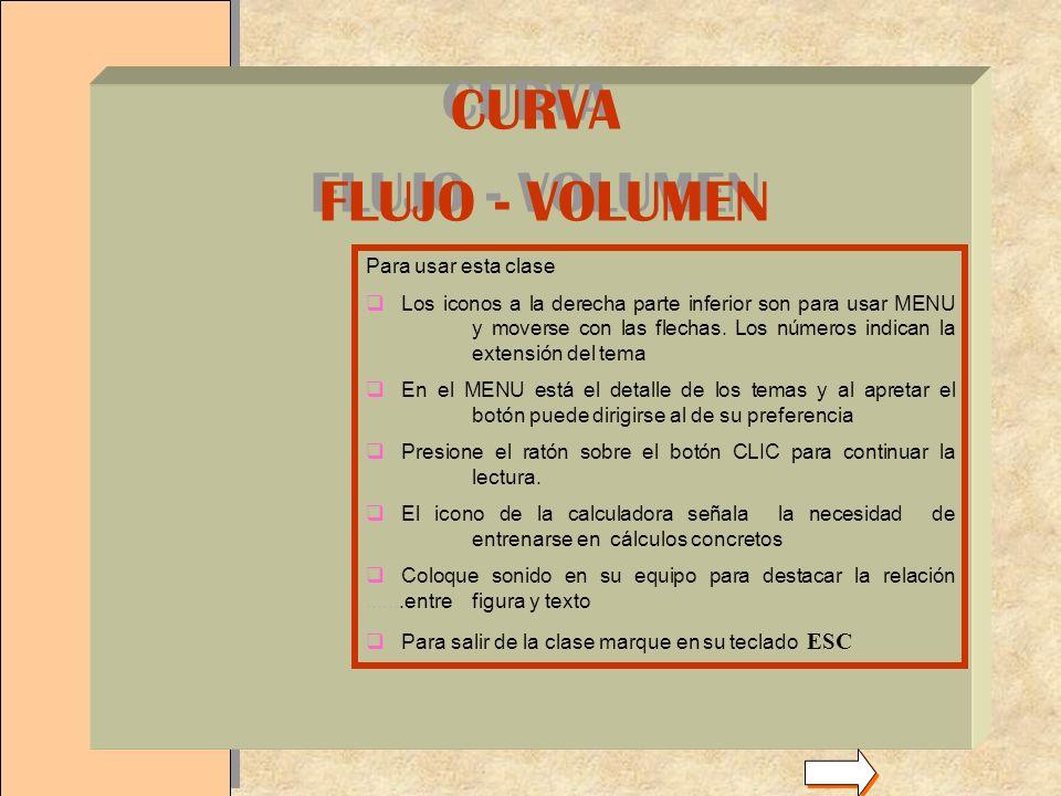 CURVA FLUJO - VOLUMEN . Para usar esta clase