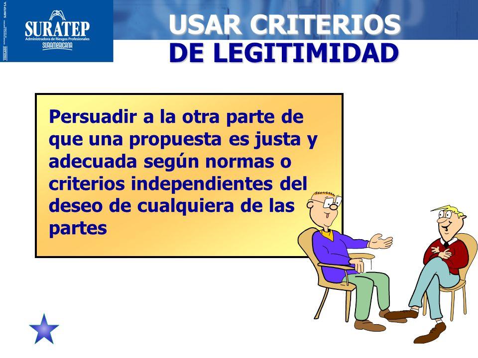 USAR CRITERIOS DE LEGITIMIDAD