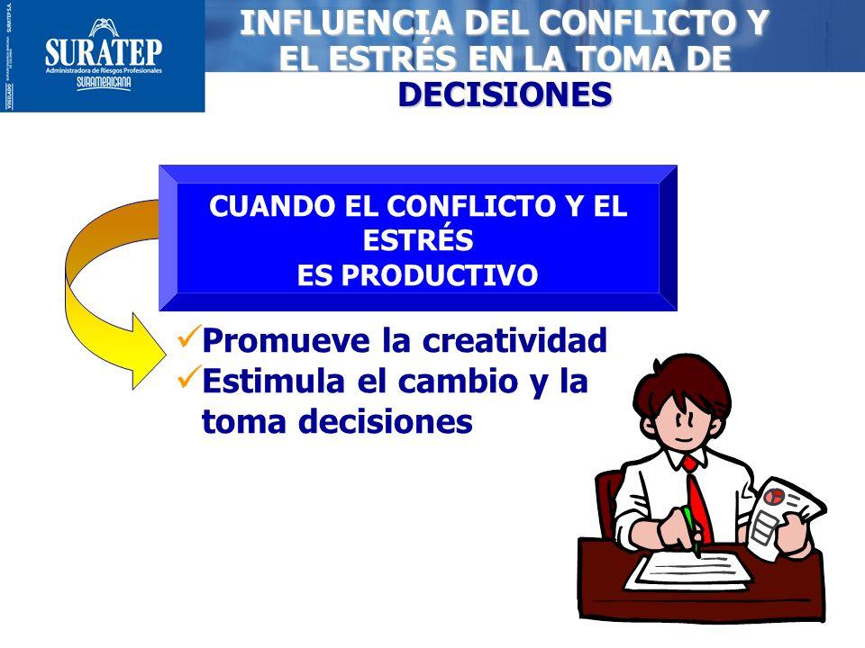 INFLUENCIA DEL CONFLICTO Y EL ESTRÉS EN LA TOMA DE DECISIONES
