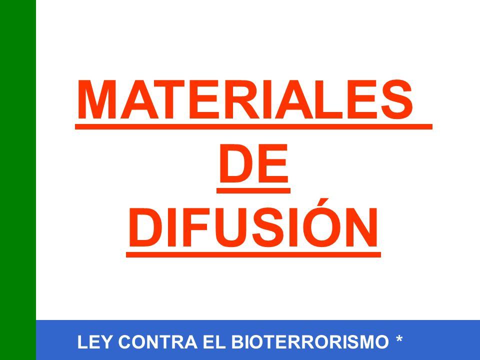 MATERIALES DE DIFUSIÓN