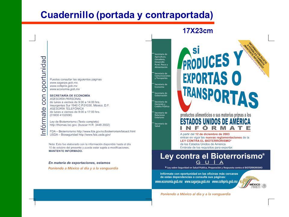 Cuadernillo (portada y contraportada)
