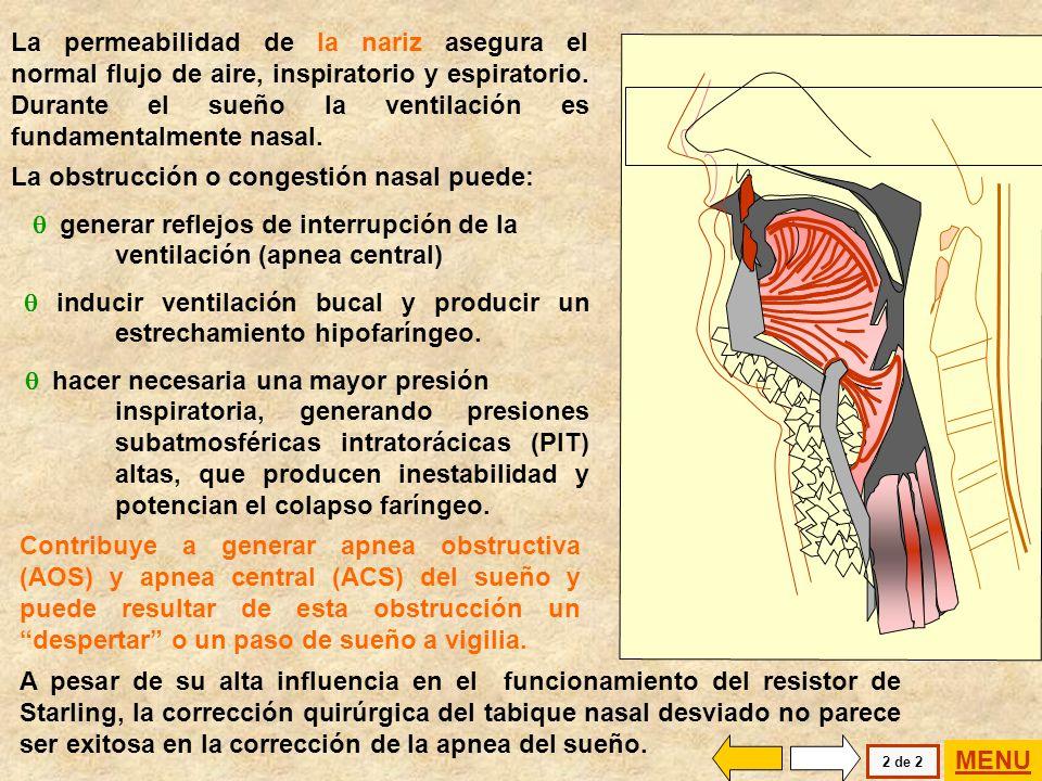 La obstrucción o congestión nasal puede: