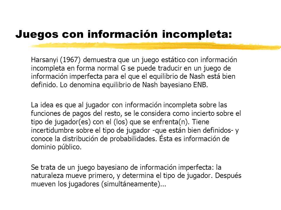 Juegos con información incompleta: