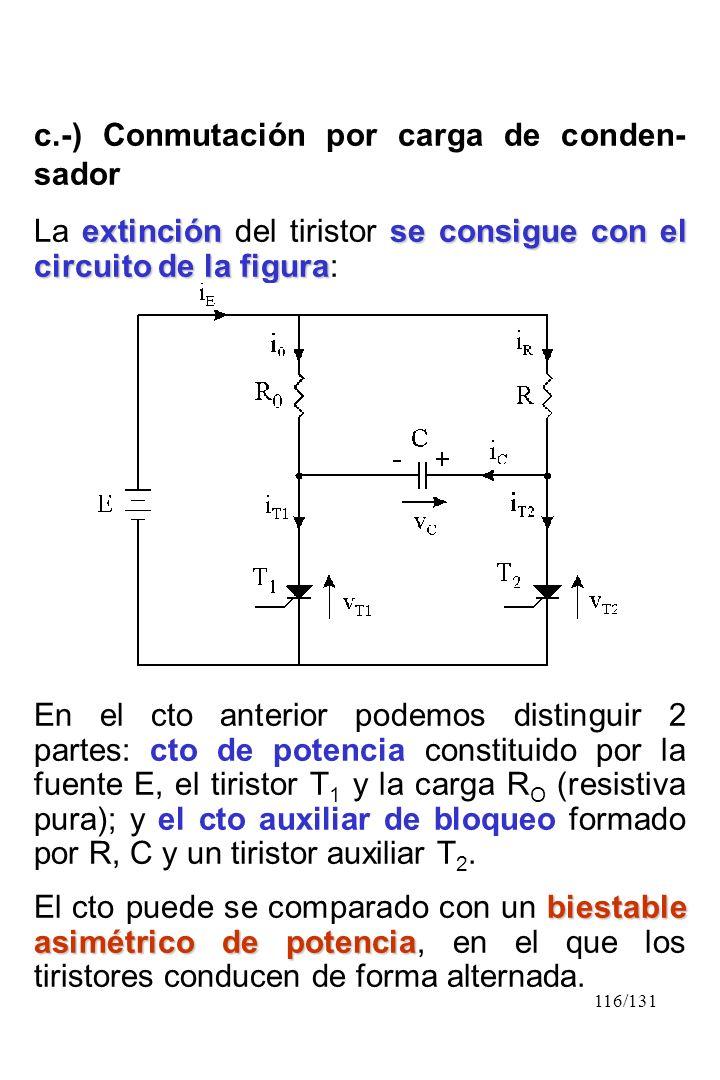 c.-) Conmutación por carga de conden-sador