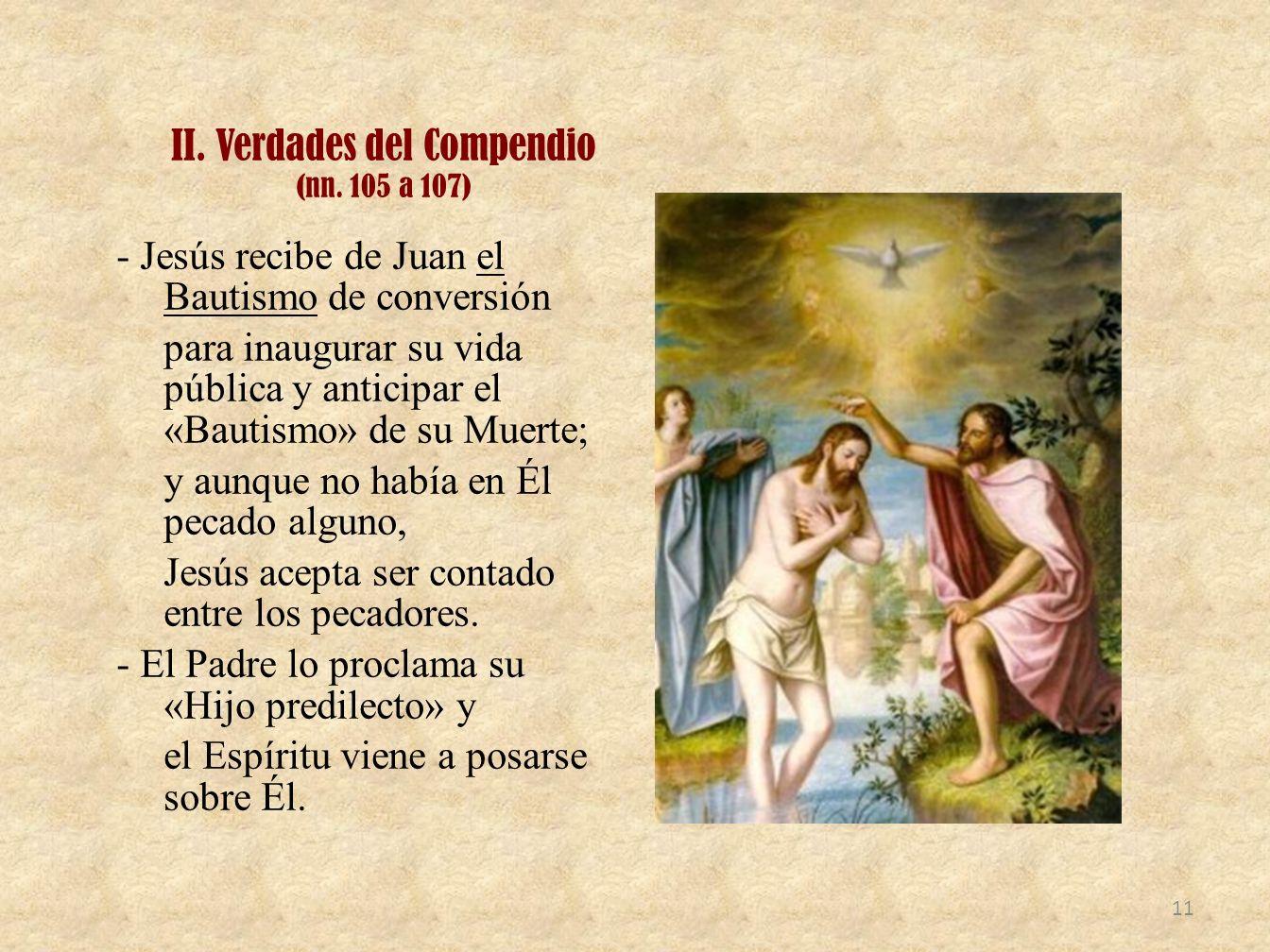 II. Verdades del Compendio (nn. 105 a 107)