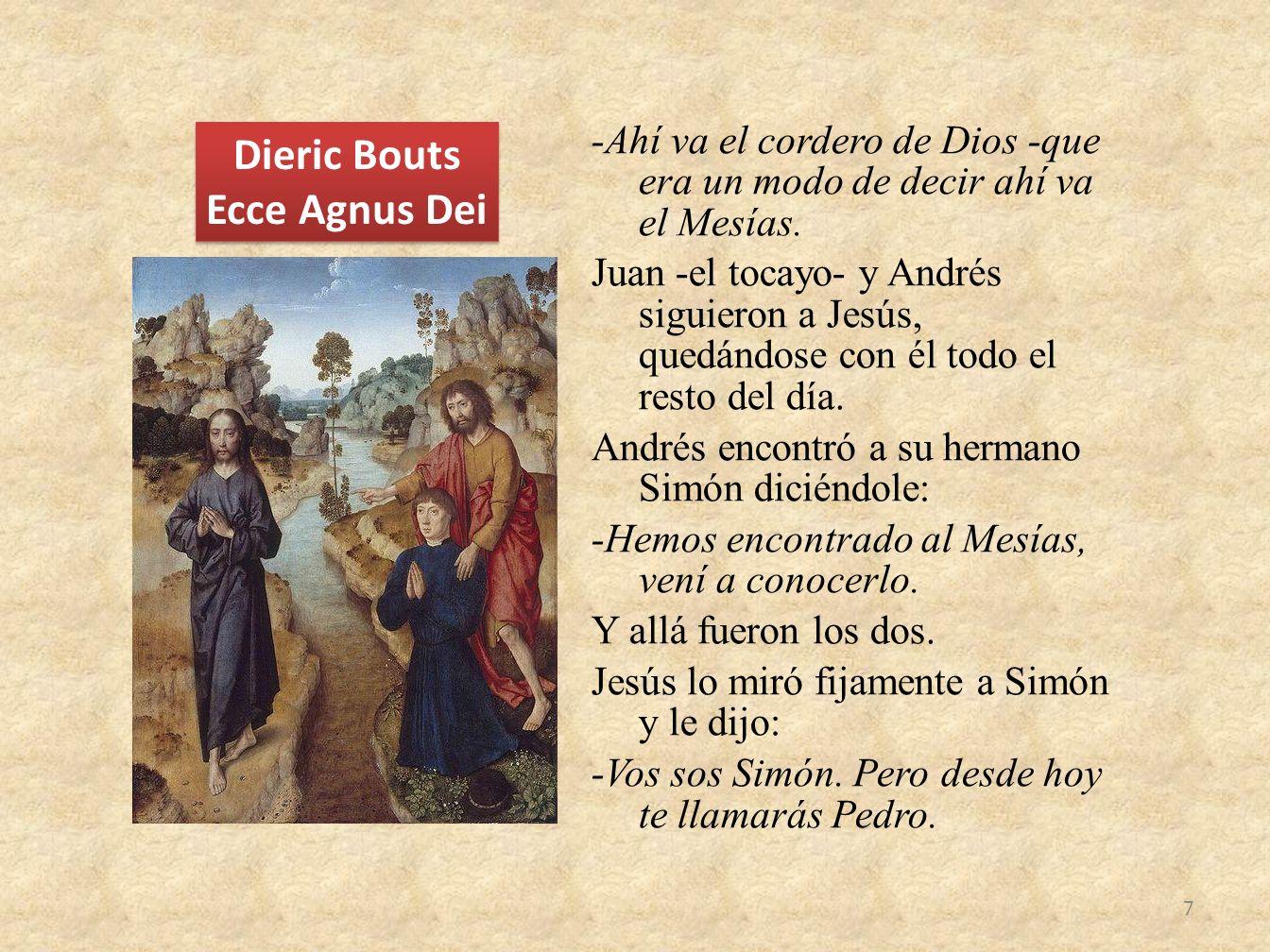 Dieric Bouts Ecce Agnus Dei