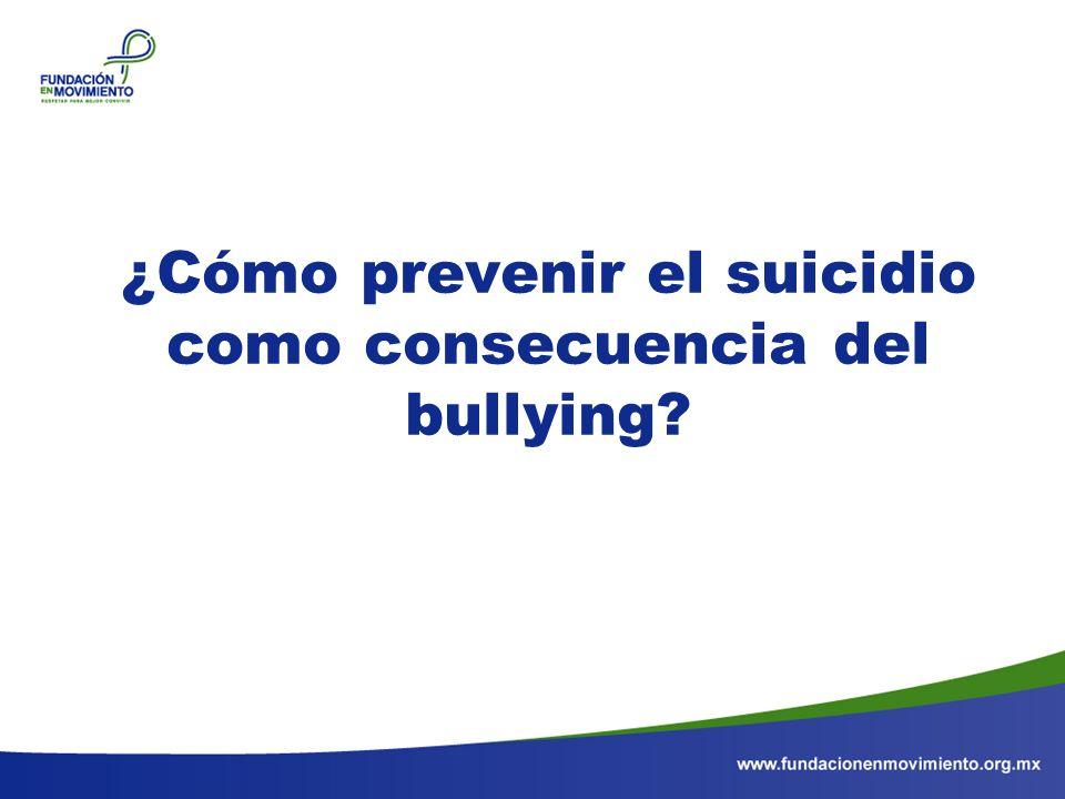 ¿Cómo prevenir el suicidio como consecuencia del bullying