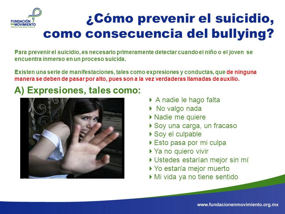 ¿Cómo prevenir el suicidio, como consecuencia del bullying