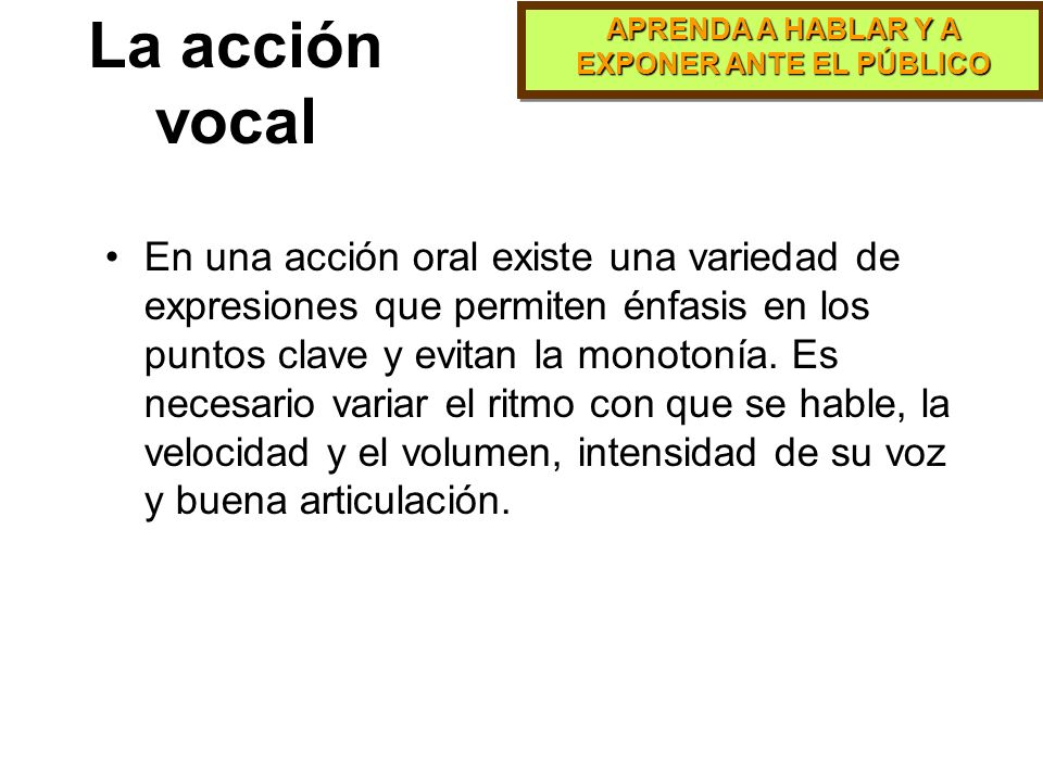La acción vocal