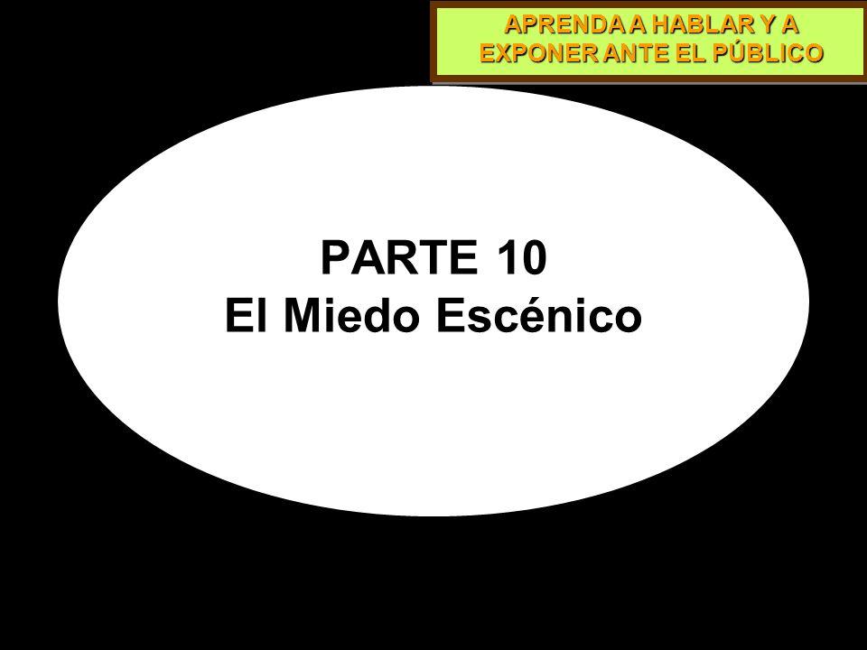 PARTE 10 El Miedo Escénico