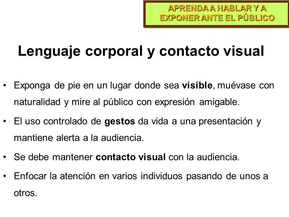 Lenguaje corporal y contacto visual
