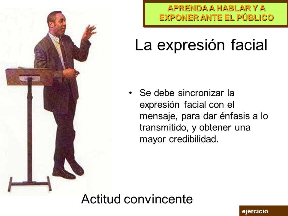 La expresión facial Actitud convincente
