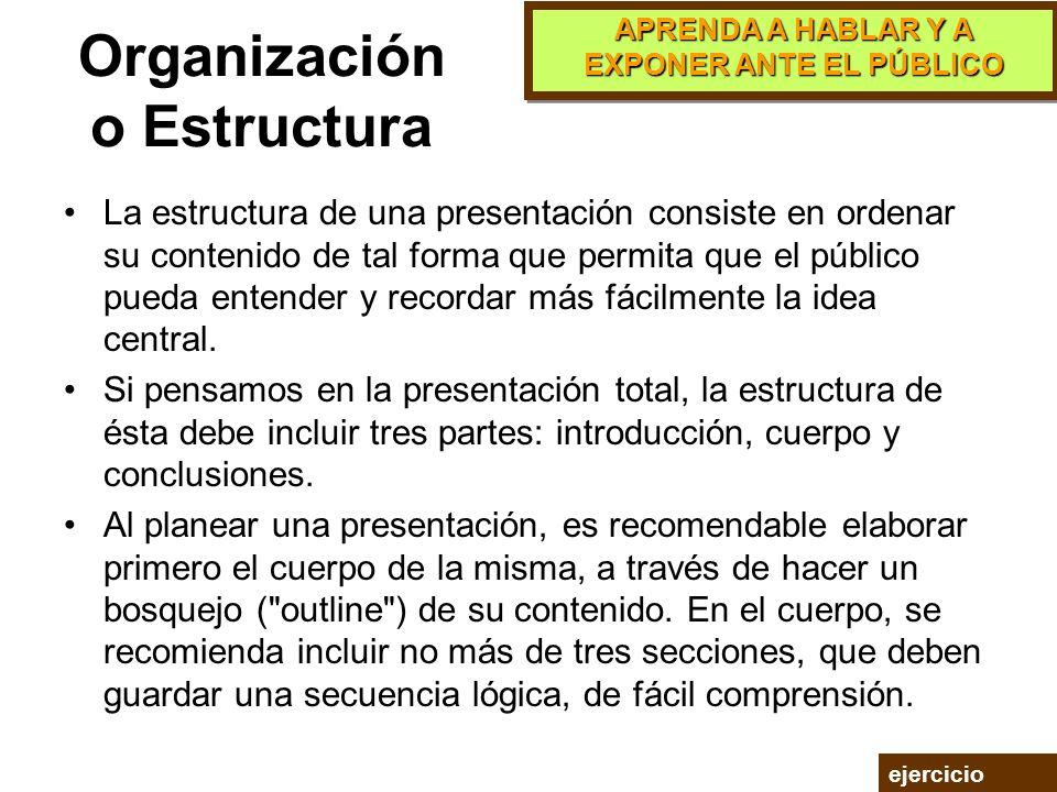 Organización o Estructura