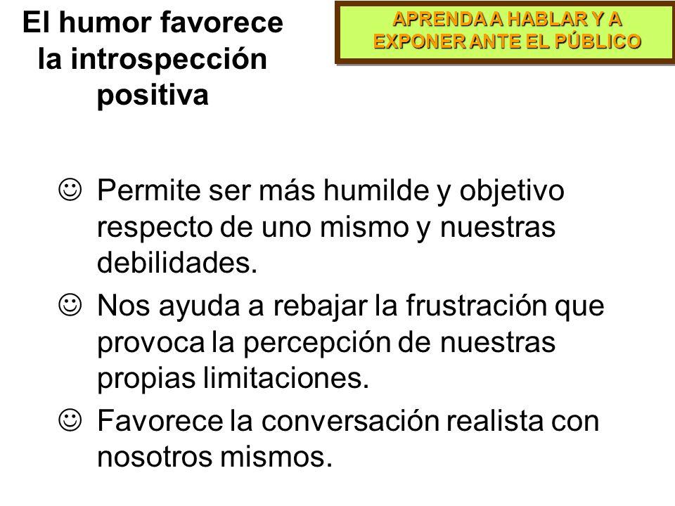 El humor favorece la introspección positiva