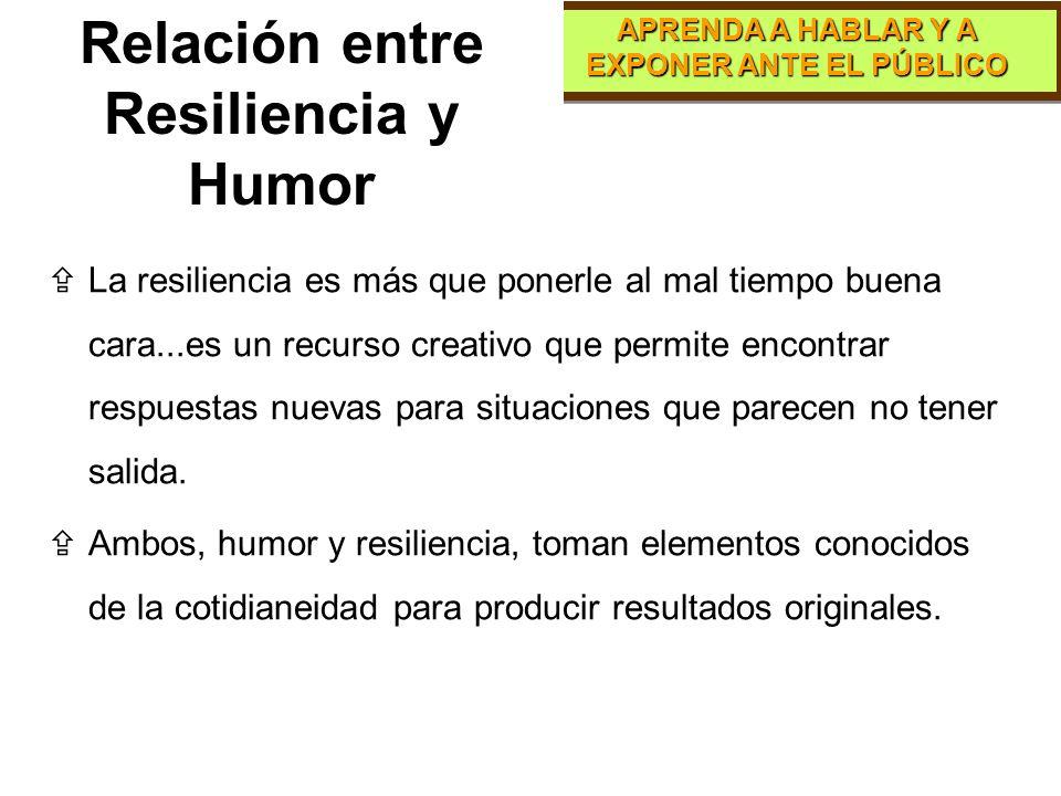 Relación entre Resiliencia y Humor