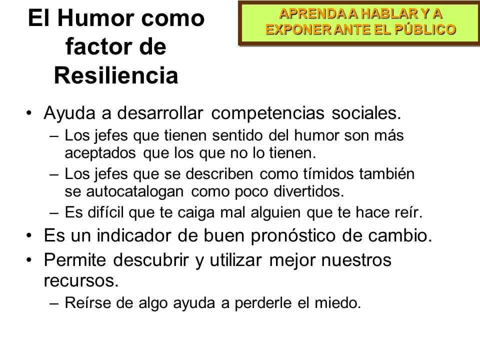 El Humor como factor de Resiliencia