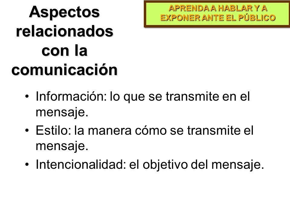 Aspectos relacionados con la comunicación