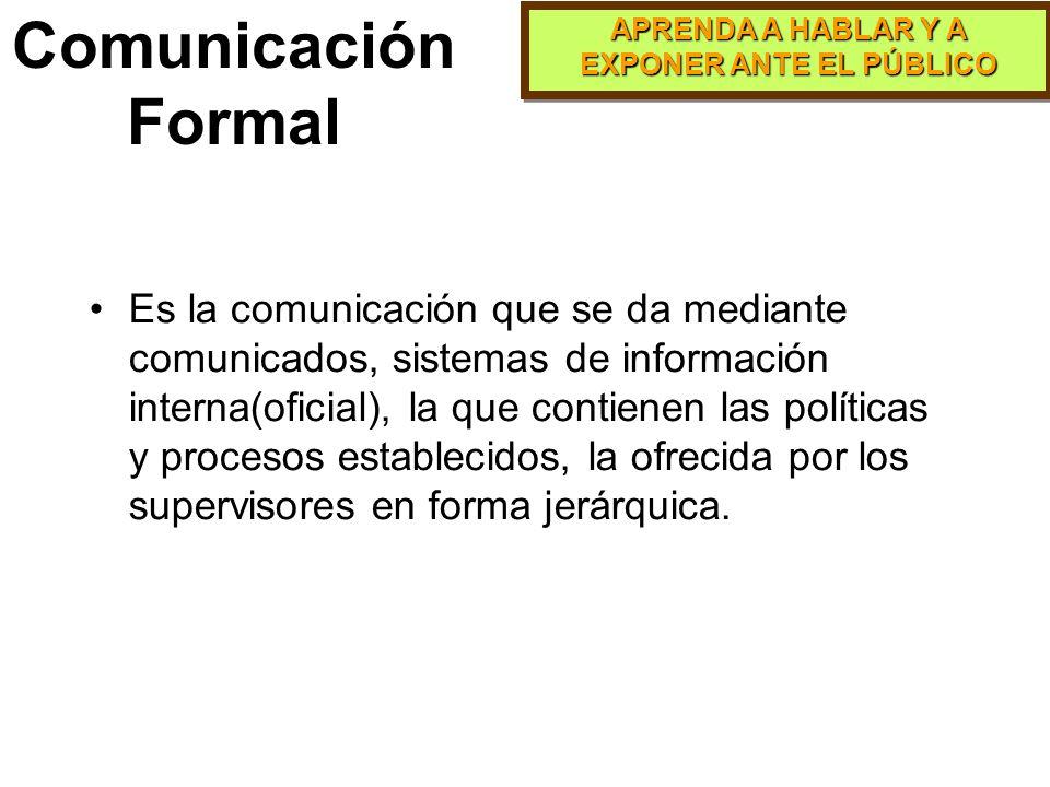 Comunicación Formal