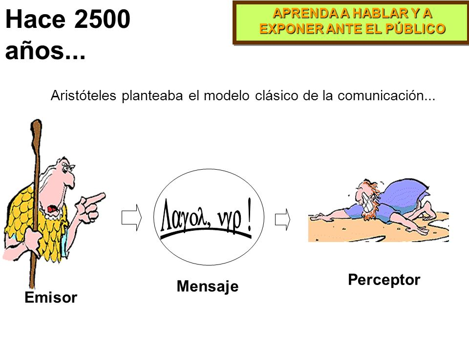 Hace 2500 años... Lagol, ngr ! Perceptor Mensaje Emisor