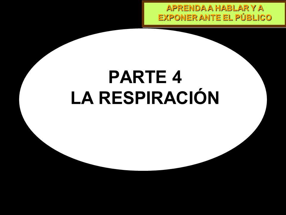 PARTE 4 LA RESPIRACIÓN