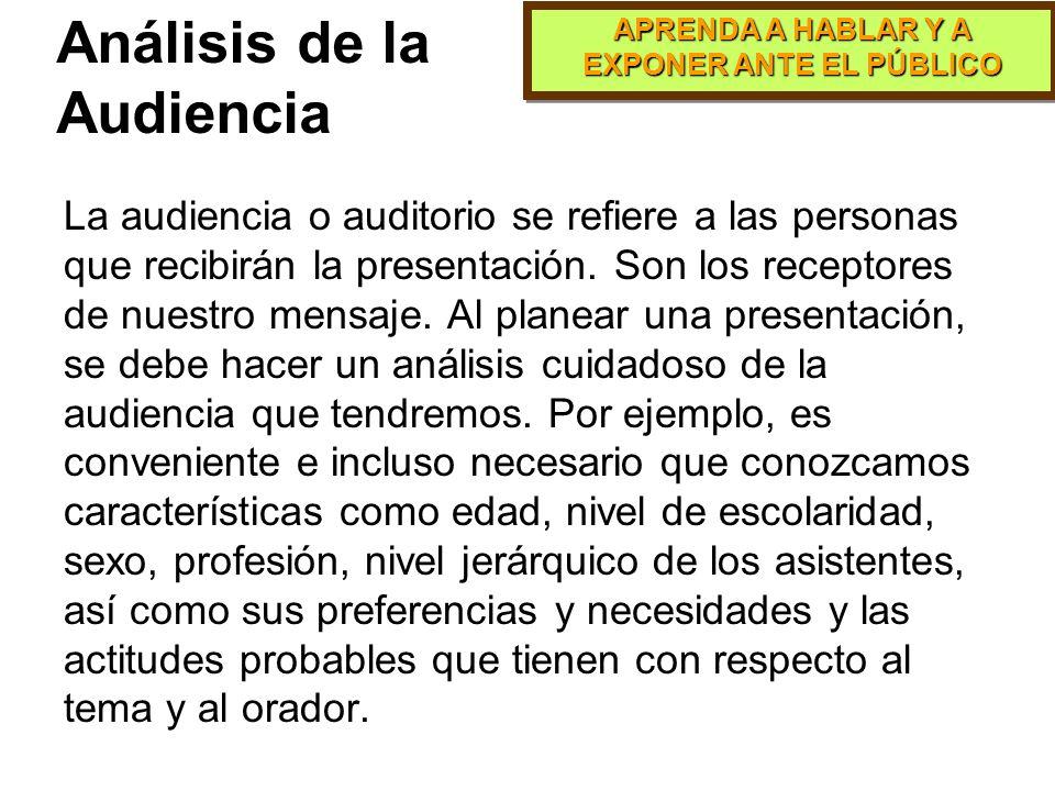 Análisis de la Audiencia