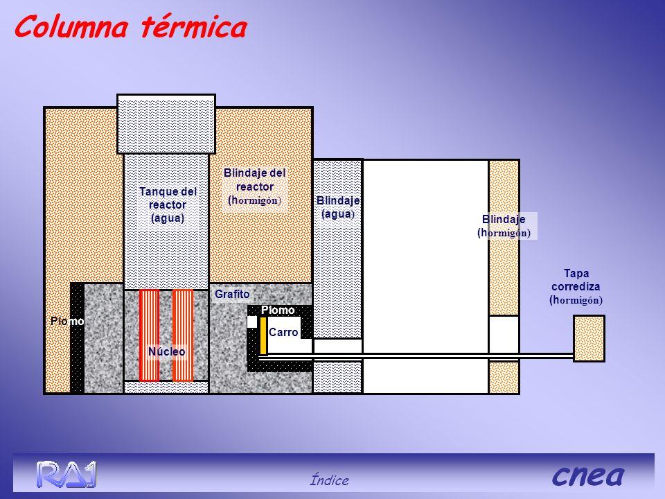 Columna térmica Índice cnea Blindaje del reactor (hormigón)