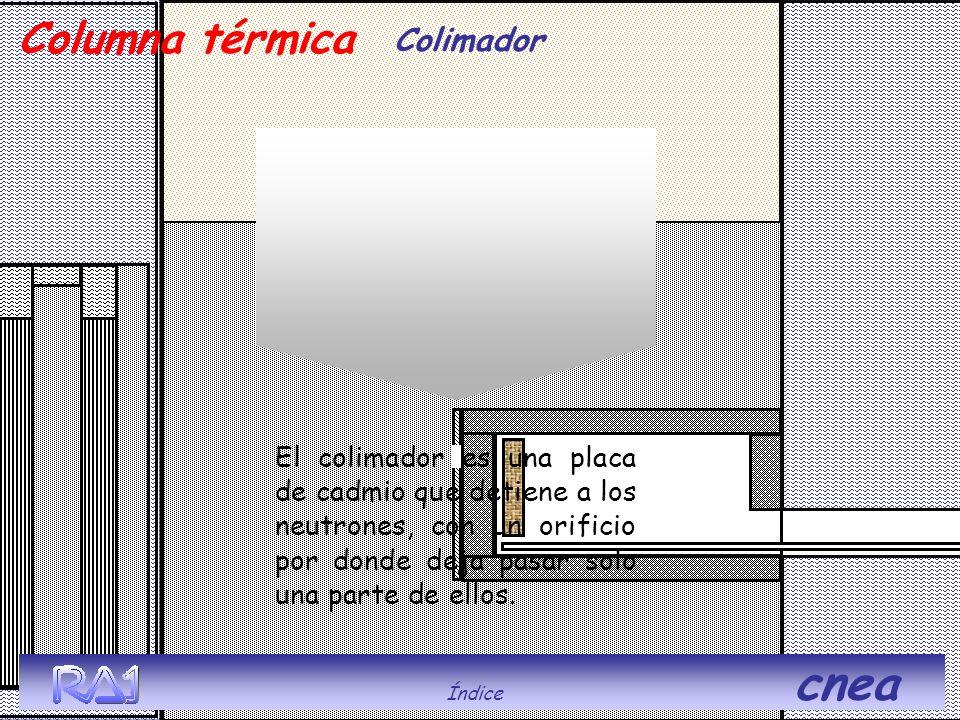 Índice cnea Columna térmica. Colimador.