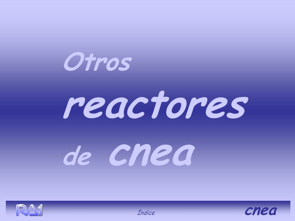 Otros reactores de cnea