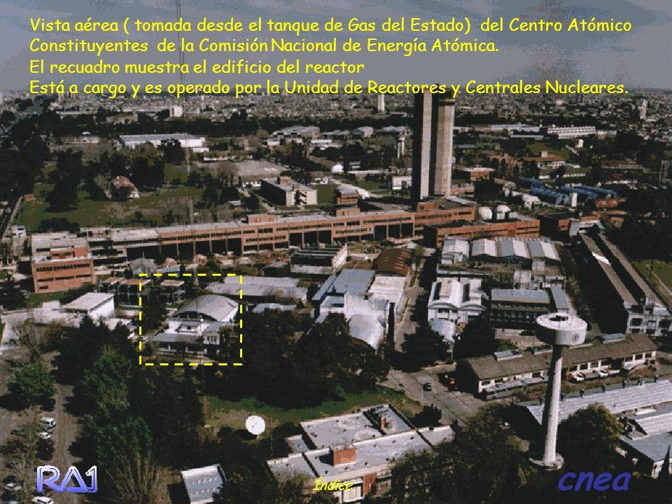 El recuadro muestra el edificio del reactor