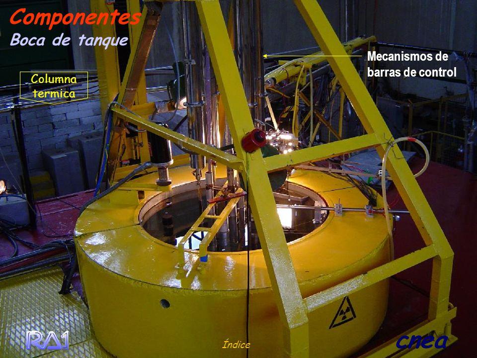 Componentes Boca de tanque Mecanismos de barras de control