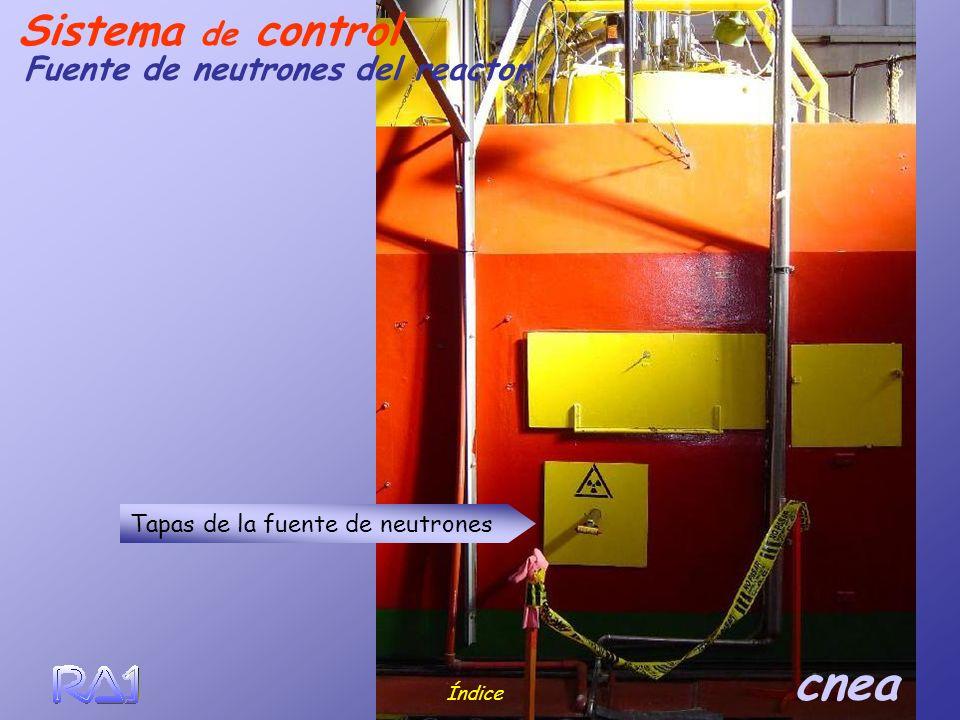 Sistema de control Fuente de neutrones del reactor
