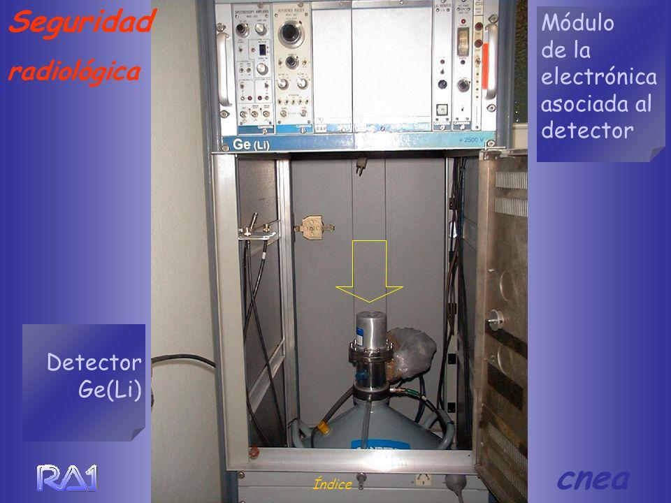 Seguridad radiológica Módulo de la electrónica asociada al detector