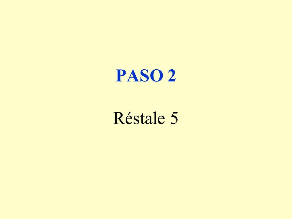 PASO 2 Réstale 5